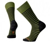 Merino Socken Stria Crew Herren light loden