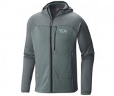 Mountain Hardwear Midlayer Desna Grid Hooded Jacket Herren Thunderhead Grey