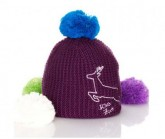 Mütze Haube Wechselbommel Unisex violett