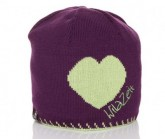 Mütze Herz Unisex violett/grün