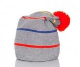 Mütze Streifen Unisex grau/bunt