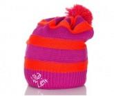 Mütze Streifenhörnchen Unisex pink/orange