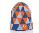 Mütze Triangle Unisex blau/orange