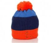 Mütze Trio Unisex orange/mystico/blau