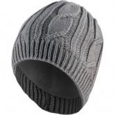 Mütze Waterproof Cable Knit Beanie Unisex Grey