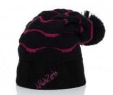 Mütze Wave Unisex schwarz/pink