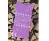 Multifunktionstuch Schneeflocke Unisex pink