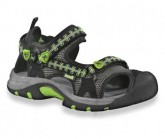 Outdoorsandale Jetty Kinder black lime
