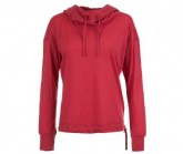 Pullover Funnel Hoodie Damen indian red