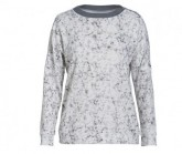 Pullover Valley Zip Crew Damen fresh white/ice blossom print