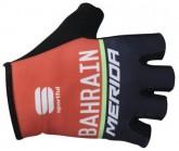 Radhandschuhe Team Bahrain Unisex rot/blau