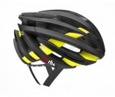 Radhelm ZY Unisex matt black/bridge shiny yellow fluo