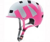 Radhelm hlmt 5 Bike Pro Unisex grey/pink mat