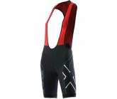 Radhose Compression Cycle Bib Short Damen blk/red