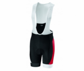 Radhose Proteam Bib Short Herren white/red