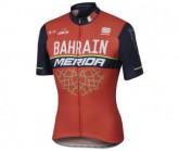 Radtrikot kurz Team Bahrain Herren rot/blau