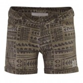 Red Chili Woven Short Allover Print Reka Damen Nut