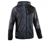 Salming Laufjacke Shield Herren Black/Concrete AOP