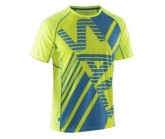 Salming T-Shirt Salming Herren Safety Yellow/Cyan