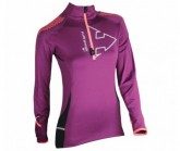 Shirt Wintertrail ML Damen prune/pink