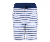 Short Waterfront Bermuda Printed Damen fresh white/fine stripe print