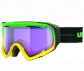 Skibrille JAKK Unisex green/yellow mat dl/psycho