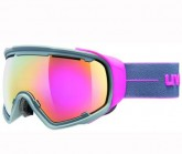 Skibrille JAKK sph. Unisex grey/pink mat dl/FM pink
