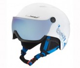 Skihelm B-Yond Visor white/blue grey