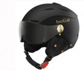 Skihelm Backline Visor soft black/gold