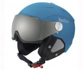Skihelm Backline Visor soft blue/silver