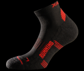 Socke Running Red unisex black