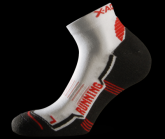 Socke Running Red unisex white