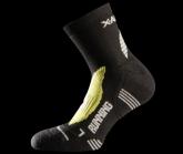Socke Running Silver Herren black/green