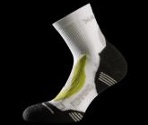Socke Running Silver Herren white/green