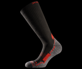 Socke Trekking Red unisex black