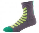 Socken MTB Ankle Hydrostop Unisex anthracite/lime/leaf