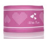 Stirnband Stickherz Unisex pink