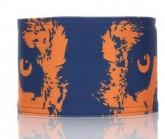 Stirnband Wolf Unisex blau/orange