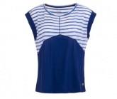 T-Shirt Active Printed Damen fine stripe print/indigo