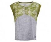 T-Shirt Active Printed Damen trans leaves print/ash melange