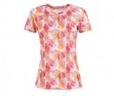 T-Shirt Base 140 Printed Damen fresh white/leaves camu print VAR3