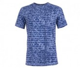 T-Shirt Base 140 Printed Herren light stone/sketch stripe print