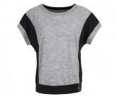 T-Shirt Comfort Panel Damen ash melange/jet black