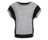 T-Shirt Comfort Panel Damen ash melange/jet black
