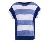 T-Shirt Comfort Panel Printed Damen fresh white/bold stripe print