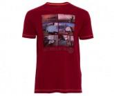 T-Shirt Elber Herren burgundy