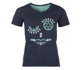 T-Shirt Laag Damen peacoat