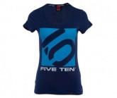 T-Shirt Logo Damen night sky/aqua