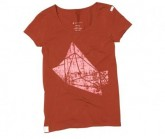 T-Shirt Polygon Dream Damen Rusty Red