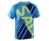 T-Shirt Salming Herren Cyan/Navy